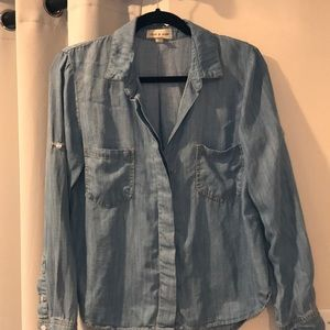Cloth and Stone denim top